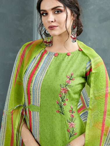Buy AT Zarqush VOL 54 Satin fabric Printed with Embroidery Suits 54008