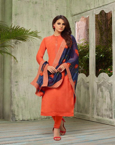 Angroop Plus Diana Masline Silk with Embroidery Suits 021