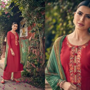 Angroop Plus Presents Emerald Designer Fabric With Digital Print Dress Material GA018