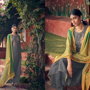 Angroop Plus Presents Emerald Designer Fabric With Digital Print Dress Material GA019
