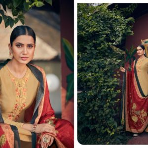 Angroop Plus Presents Emerald Designer Fabric With Digital Print Dress Material GA020