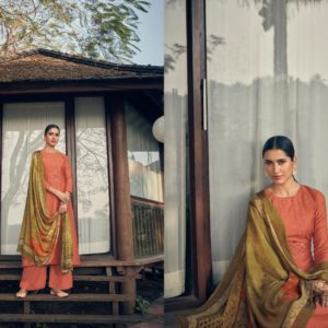 Angroop Plus Presents Emerald Designer Fabric With Digital Print Dress Material GA022