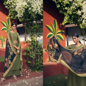 Angroop Plus Presents Emerald Designer Fabric With Digital Print Dress Material GA023