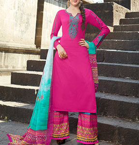 Amayra Sheedha Jam Satin Work Neck and Sleeves Chiffon Digital Print Plazo 11016