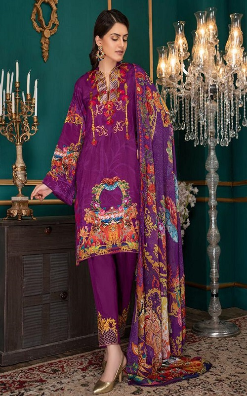 Buy-Shraddha-Designer-Noor-2-Pure-Lawn-With-Heavy-Embroidery-Salwar-Suit-2006
