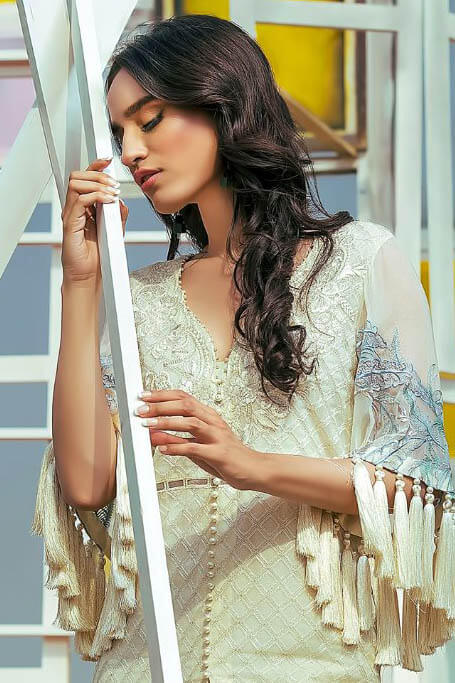 Buy Shree Fabs Sana Saafinaz Embroidered Collection Vol 2 Georgette Salwar Suits 5025