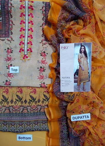 Esta Designs Neysa Digital Printed Georgette with Embroidery Work Suits 01