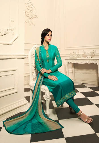 Fiona Crepina Vol 3 French Crepe With Work Designer Suits 9092