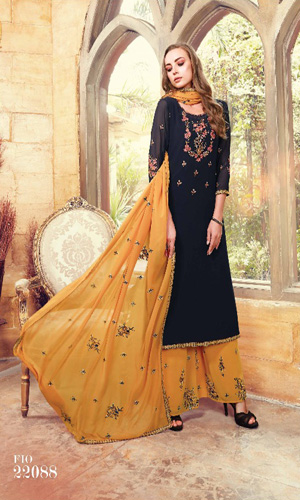 Fiona Suhana Sharma Faux Georgette with Embroidery Work Suits 22088