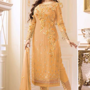 Buy Glossy Heenaz Georgette With Heavy Embroidery Suit 18020 C
