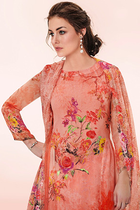 Buy Haya Crayon Pure Georgette With Hand Work Salwar Kameez 6487