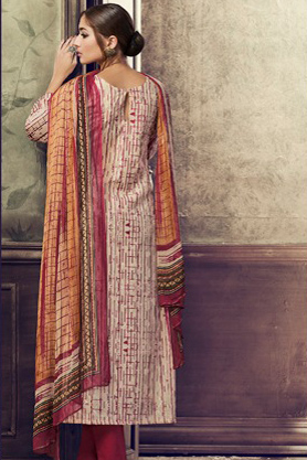 Buy Haya The Winds Pure Cotton Satin Digital Print With Shifly Embroidery Suit 6545