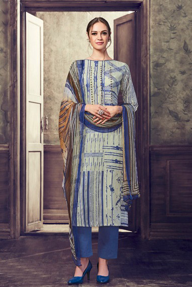 Buy Haya The Winds Pure Cotton Satin Digital Print With Shifly Embroidery Suit 6548