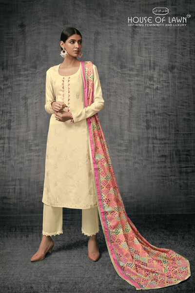 Buy House of Lawn Shades of Beauty Pure Jam Satin Suit 02