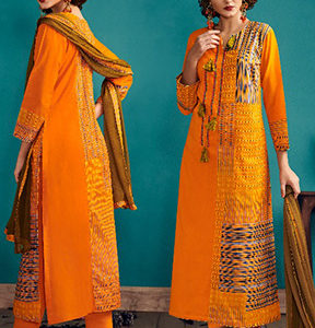 Jay Vijay Fashion Telas Cotton Digital Print With Hand Work Salwar Kameez 3885