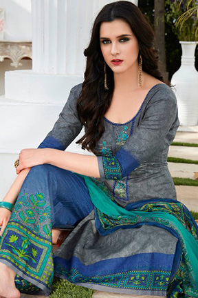 Kalakriti Summer Special Lawn Cotton Printed With Embroidery Suits 7009