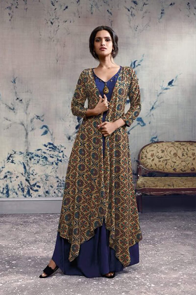 Omtex Mirabel Georgette With Embroidery Work Gowns 92