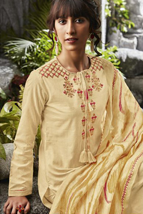 Buy Sahiba Sarg Isa Pure Cotton With Embroidery Design Suit's 258