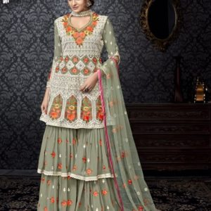 Buy Shree Fabs Shehnai Vol-8 Georgette Sharara Suit 6040