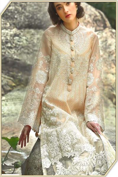 Buy Shree Fabs Nomi Ansari Glace Cotton Heavy Work Suits 1004