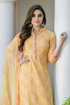 Tac Fab Chalan Book Fabric Top With Embroidery Neck Ghera Pure Cotton Suits 1692 A