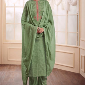 Varsha Fashions Earthy Notes Woven Double Cloth With Embroidery Suits 104
