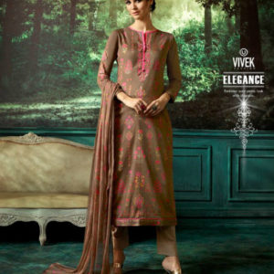 Vivek Anaya 3 Kashmiri Buti Satin Silk Digital Print With Embroidery Suits 6309