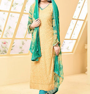 Your Choice Dinnar Vol 19 Pure Chiffon Embroidery Salwar Suit 2873