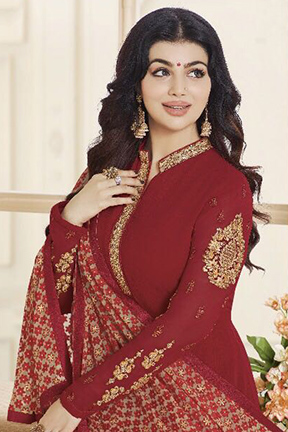 Buy Zubeda Presents Habiba Brasso Straight Embroidery Salwar Kameez 14102
